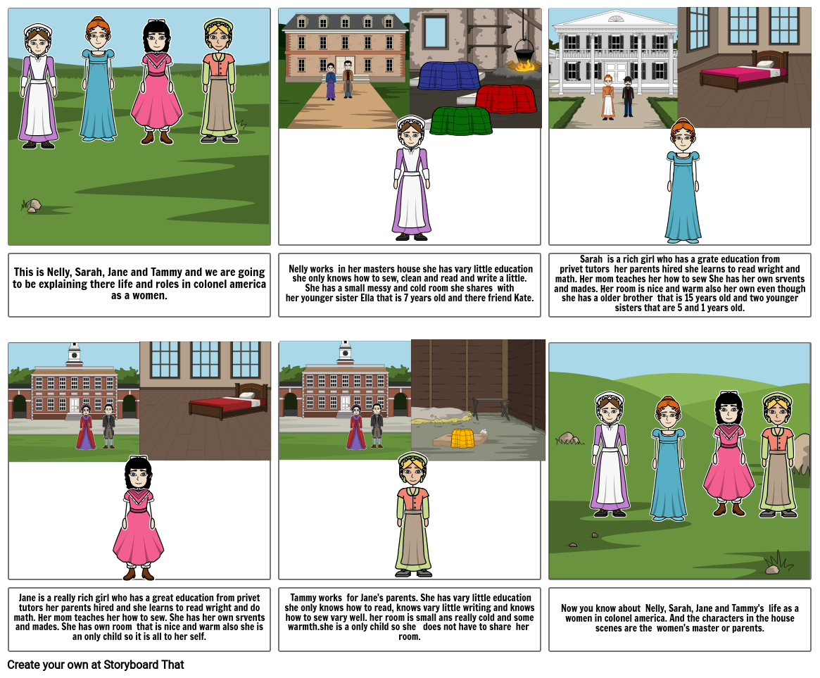 Roles of woman in clonel Amarica