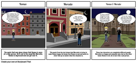 Character foil storyboard