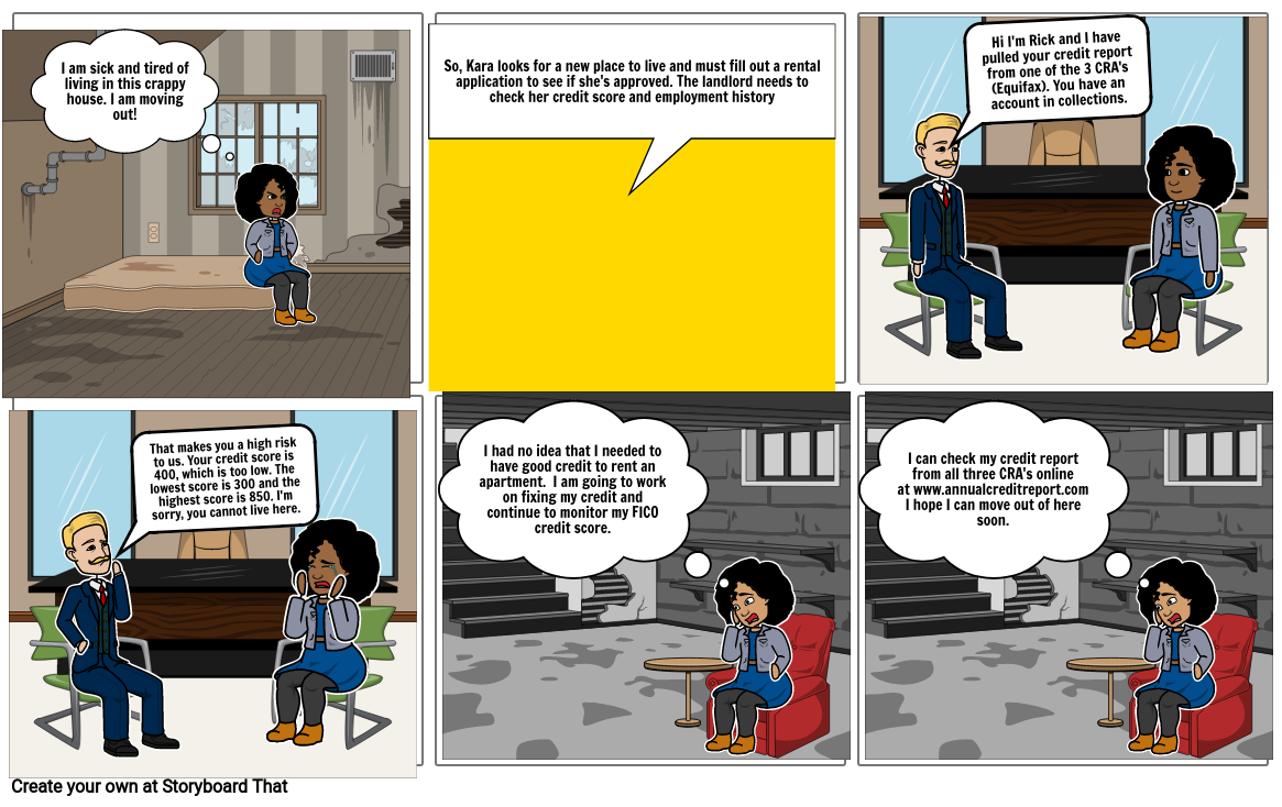 Credit Report and Scores Comic Strip