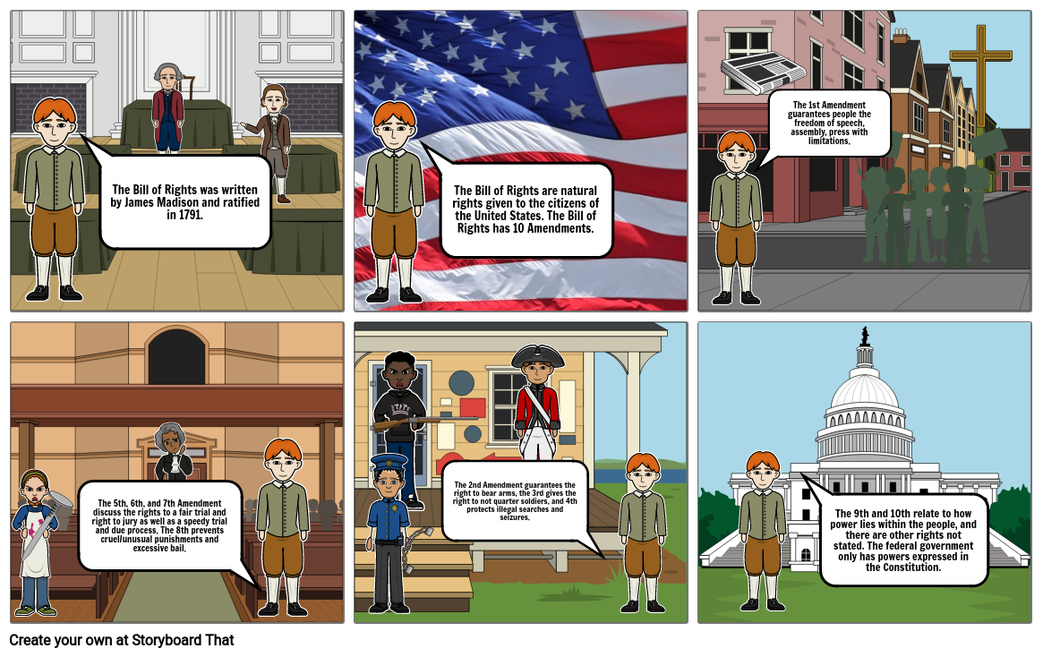 gov bill of rights comic strip