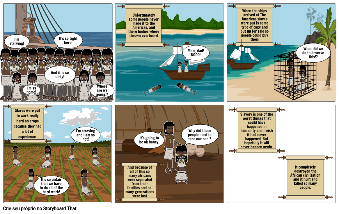 Atlantic Slave trade Comic Book - Illa Sabbatelli 7A - part 2