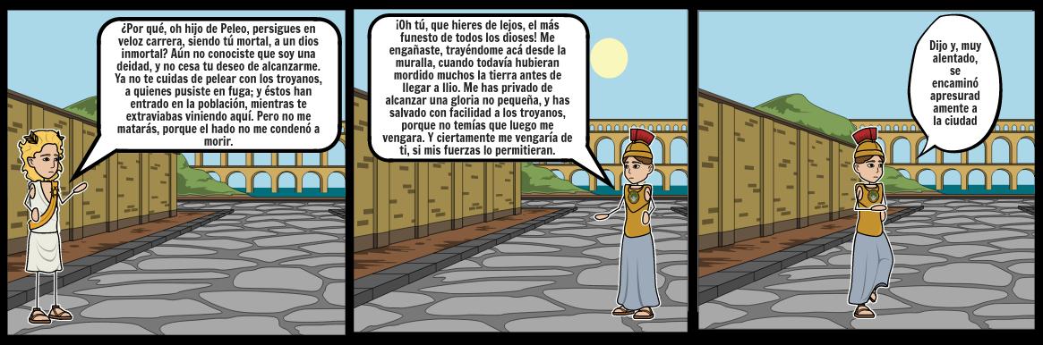 Canto 22 muerte de Hector