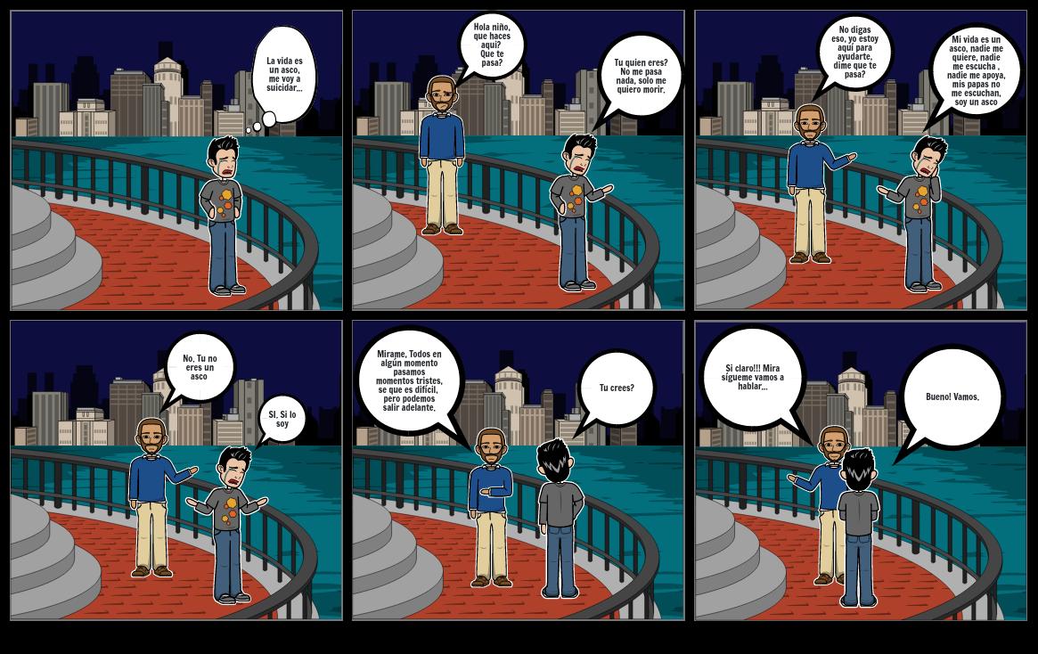 Comic problemáticas de adolescentes