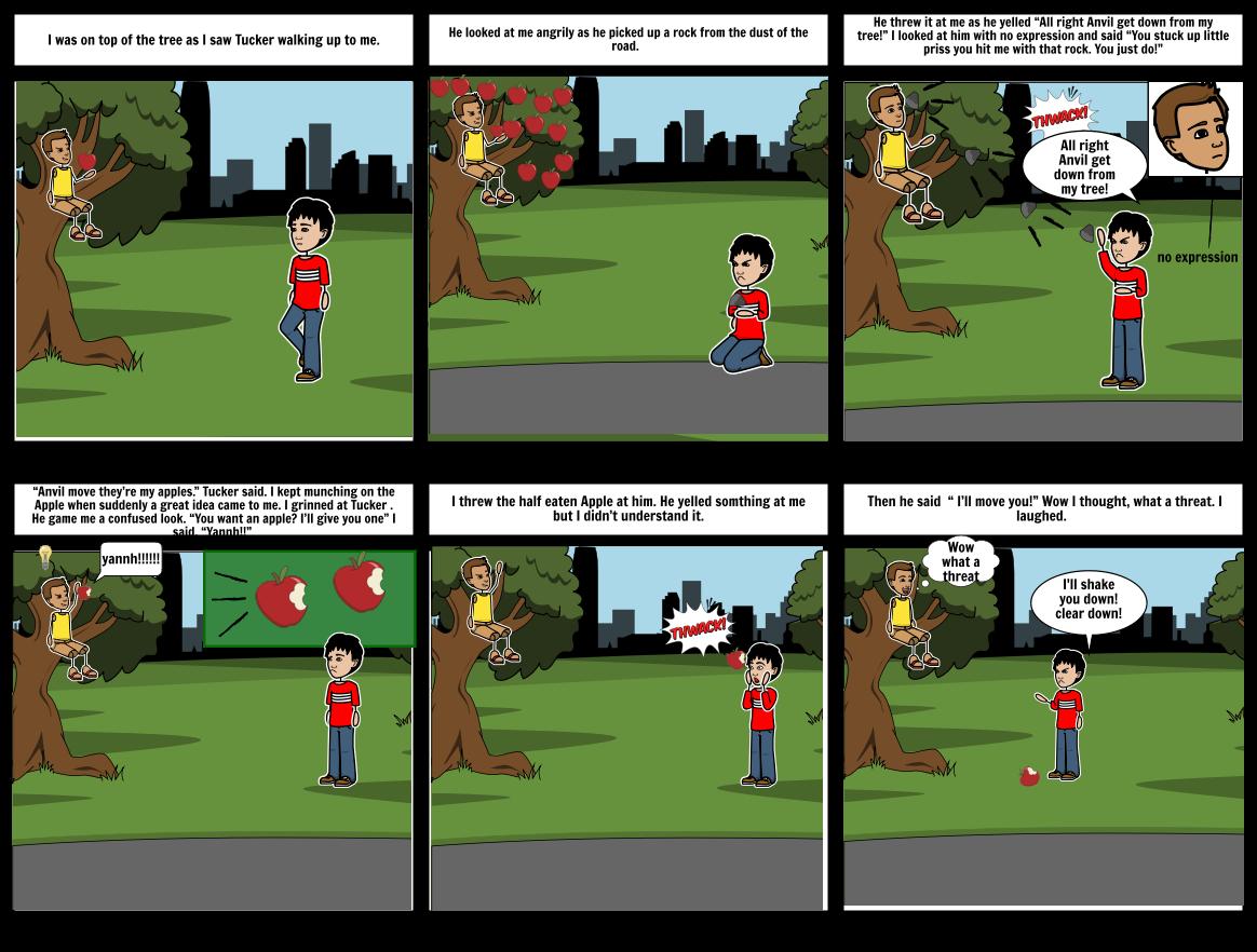 Anvil and Tucker Apple tree scene