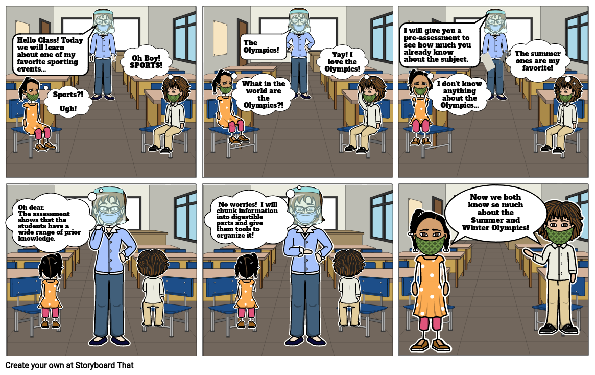 EHLS6070 Cognitive Theory Storyboard