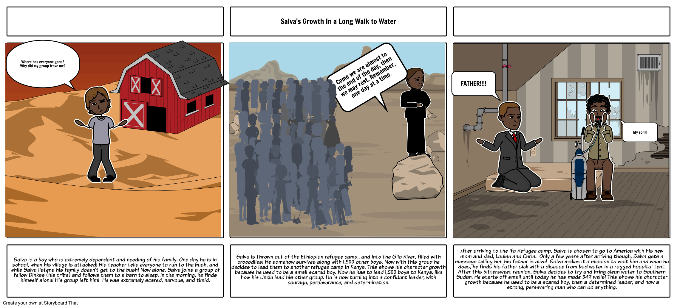 A Long Walk to Water Comic Strip