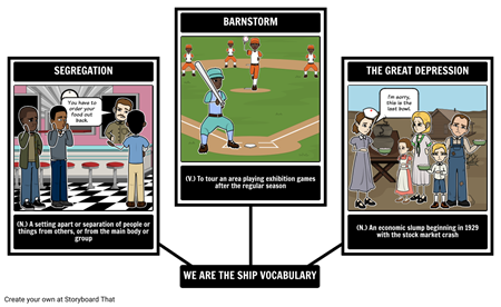 We Are the Ship - Vocabulary