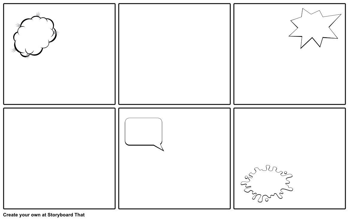 Blank Comic Strip Template