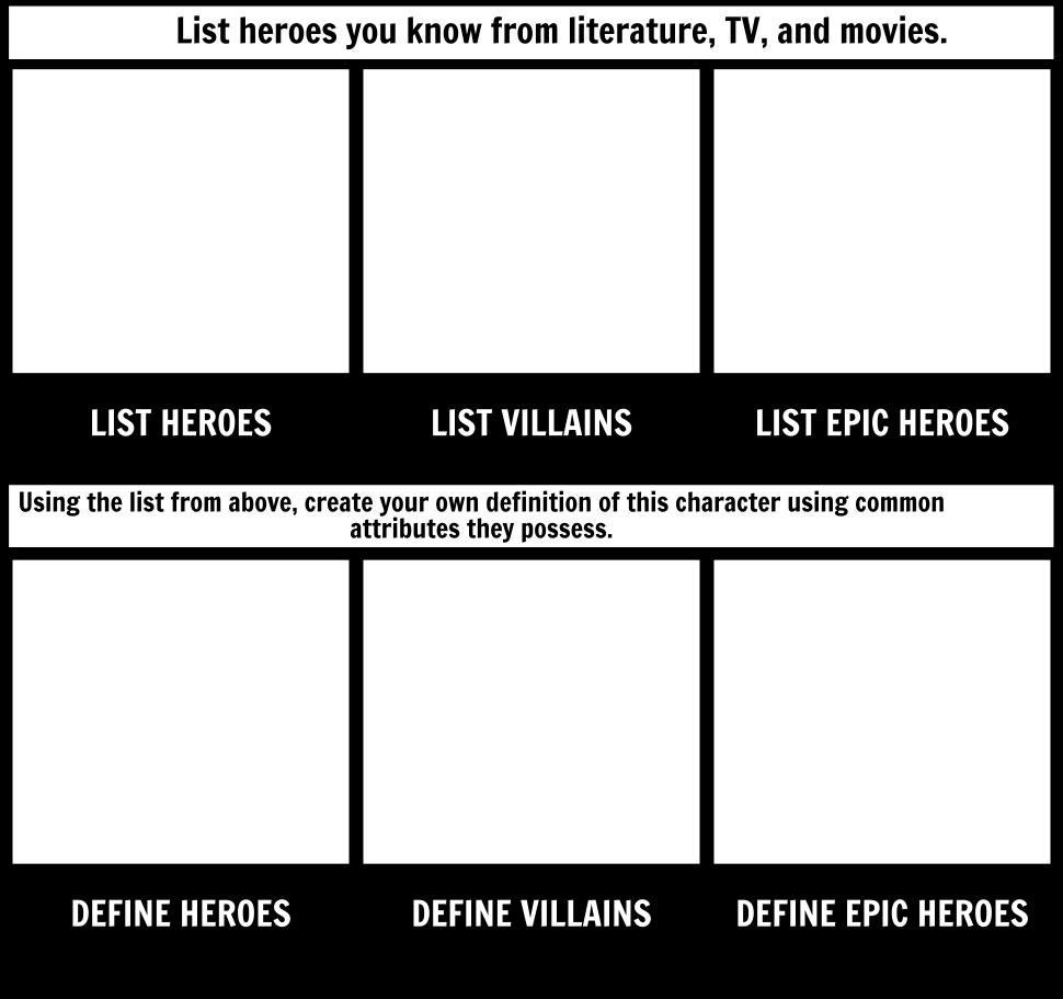 Epic Hero Activator Worksheet