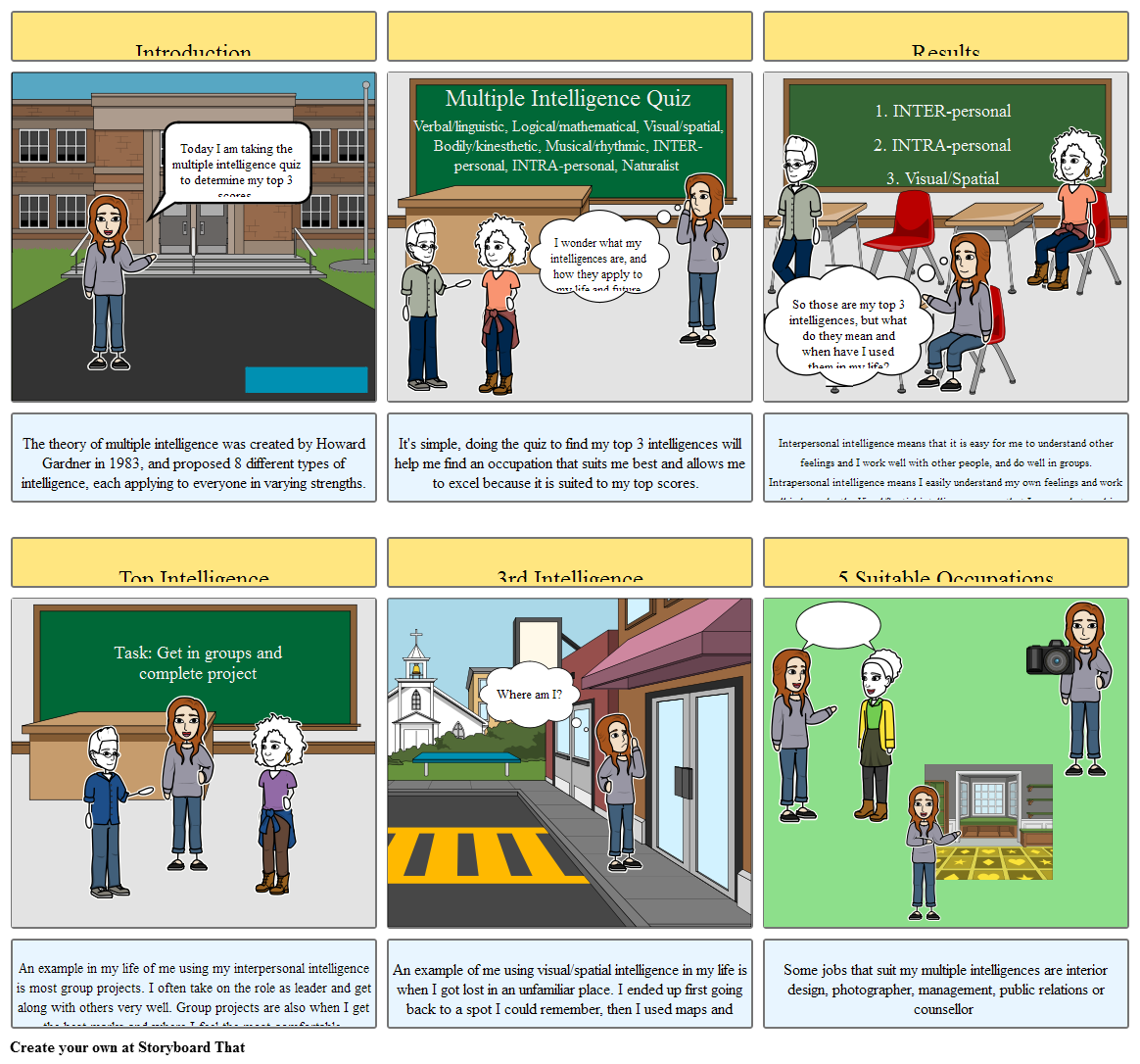 Careers Storyboard