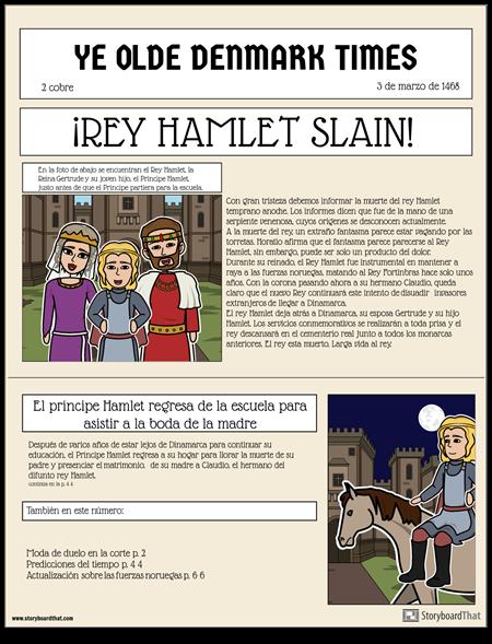 Anuncio del Periódico Hamlet