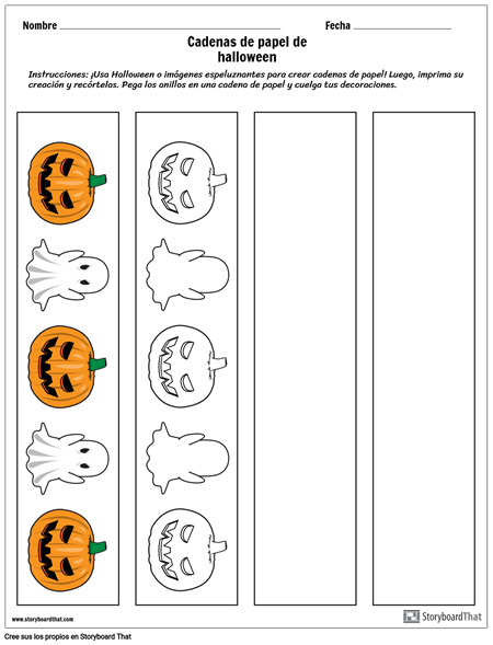 Cadenas de Papel de Halloween