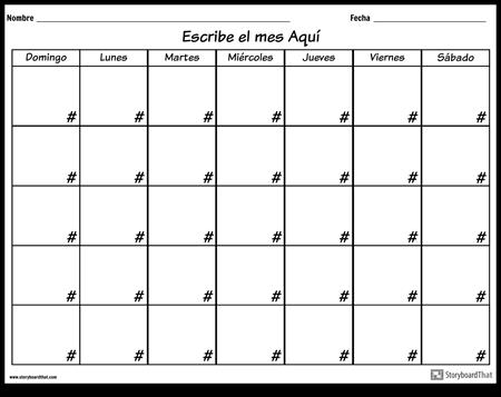 Calendario - 7 días