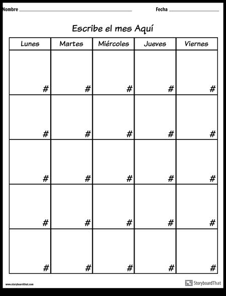 Calendario - Día de la Semana
