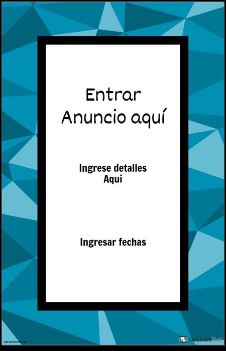 Cartel de Anuncio