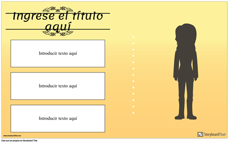 Cartel de Biografía de Bloques de Texto