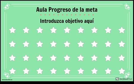Cartel de Exhibición de Meta en el Aula