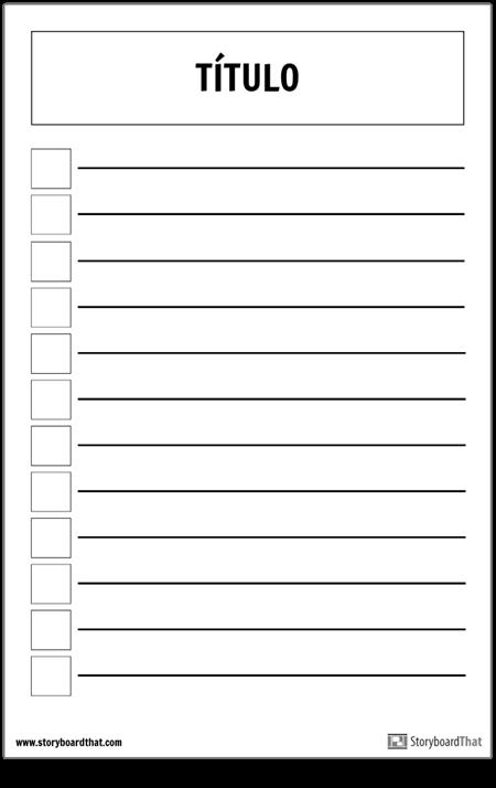 Cartel de la Lista de Verificación Básica