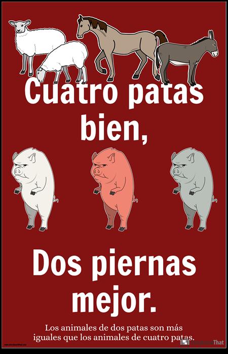 Cartel de Propaganda de la Granja de Animales