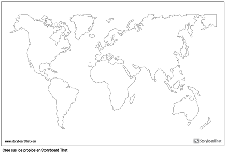 Cartel del Mapa Mundial