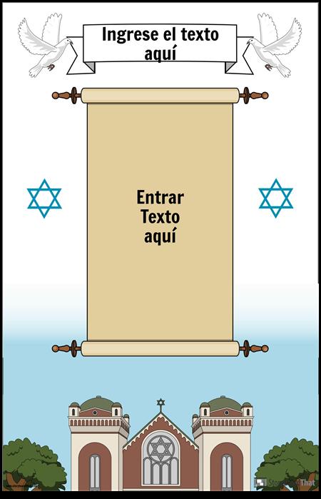 Cartel judío con desplazamiento