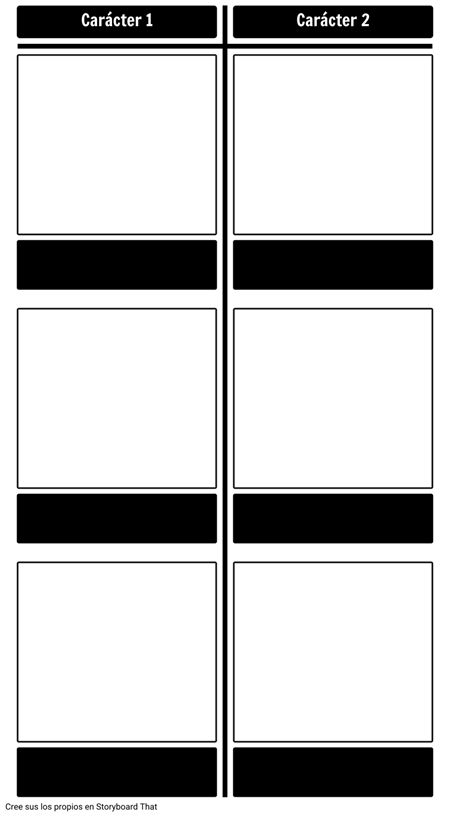 Comparación de Personajes - T-Chart