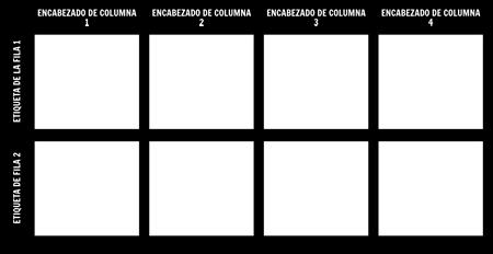 Cuadro 2x4 en Blanco