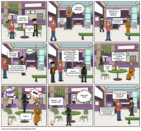 El Mago y el Ninja: Onomatopeya