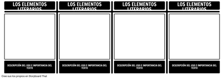 Elementos Literarios T-Chart