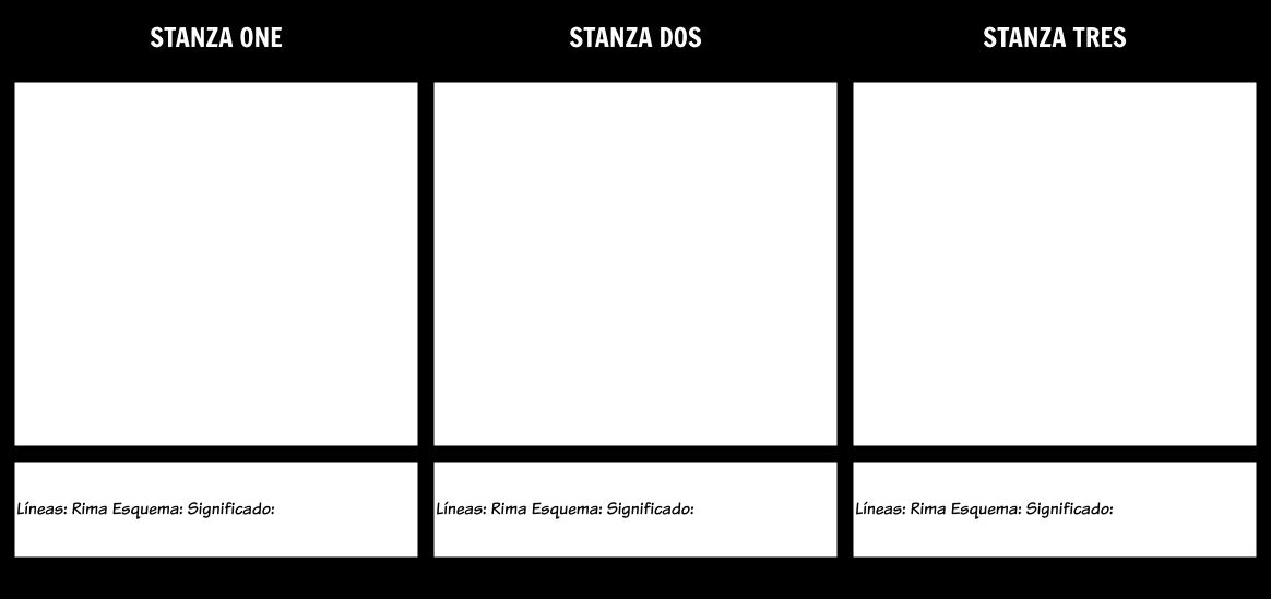 Estructura Del Poema Storyboard By Es Examples