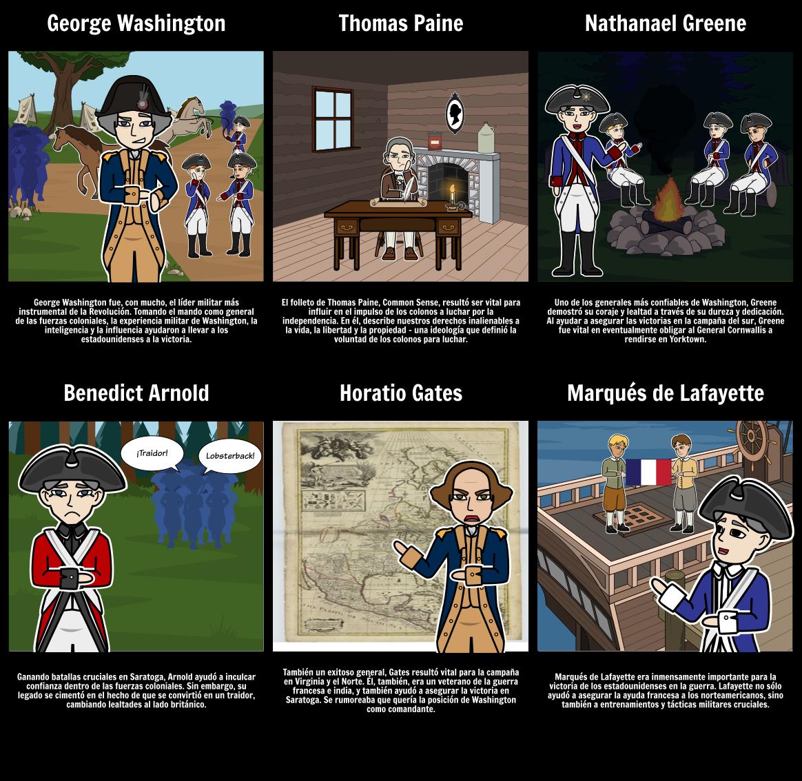 Gente Importante de la Revolución Americana