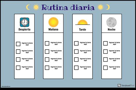 Gráfico de Rutina Diaria