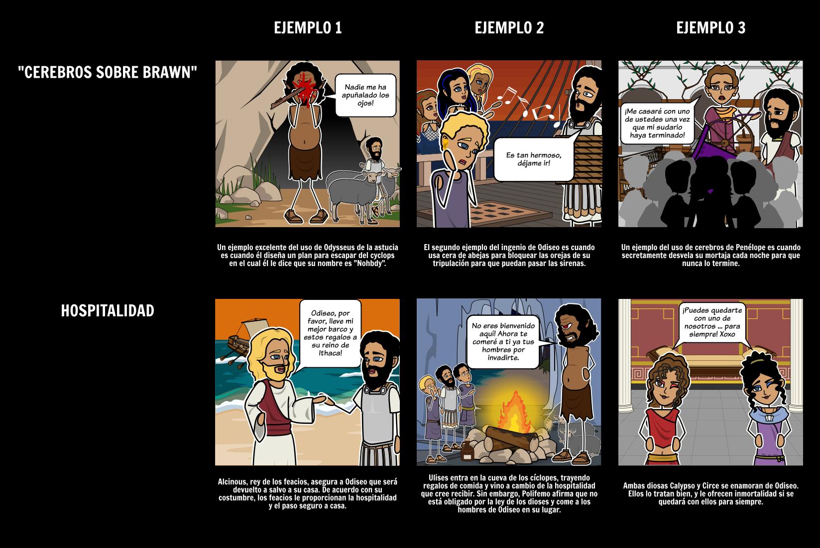 La Odisea - Temas Storyboard por es-examples