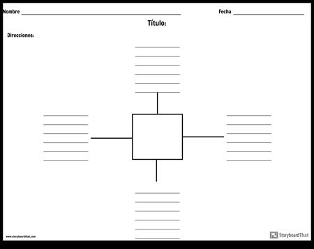 Mapa de araña con líneas - 4