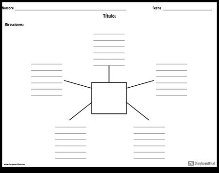 Mapa de araña con líneas - 5
