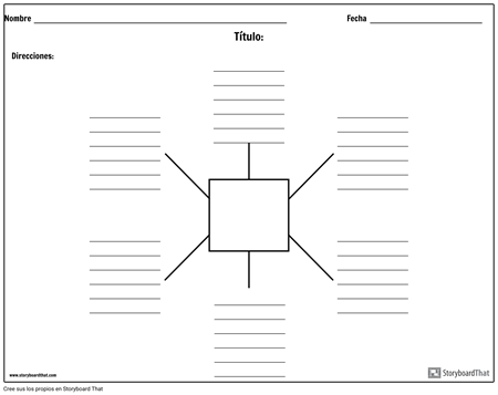 Mapa de araña con líneas - 6