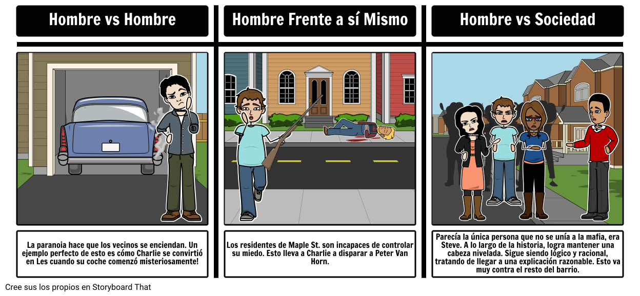 Monsters on Maple St. Conflicto Literario