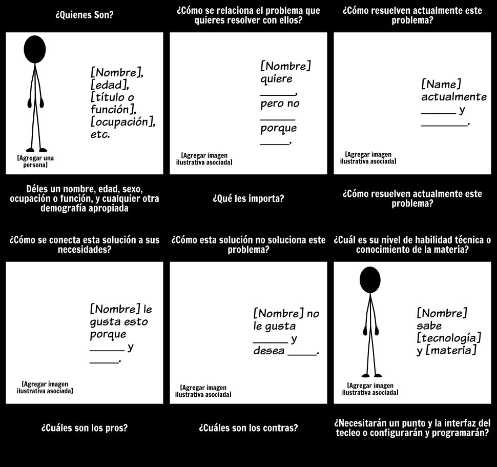 Persona Plantilla - 6 celdas