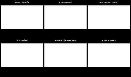 Plantilla de Diagrama de Juego de Estructura de Cinco Actos