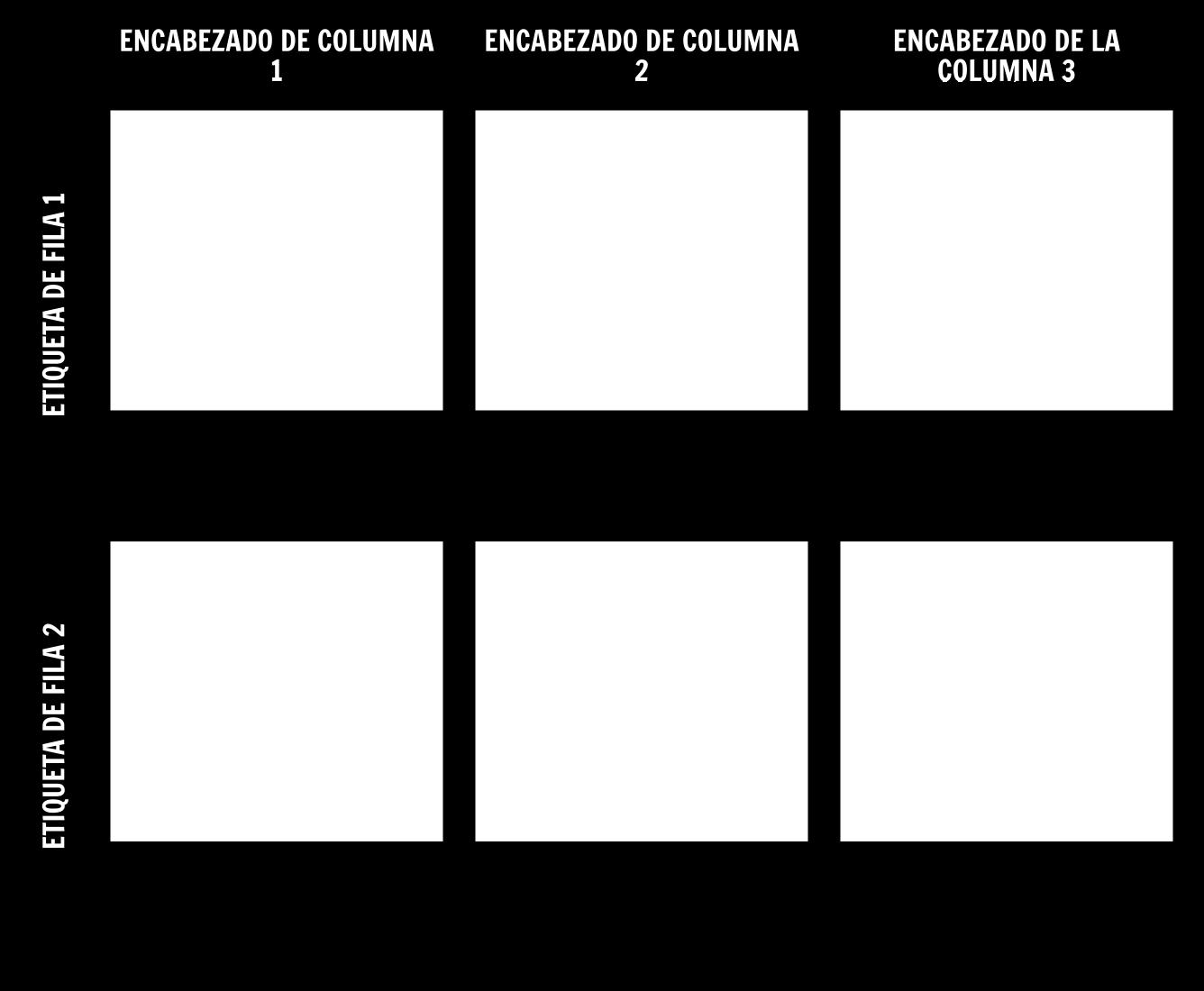 Plantilla de Gráfico 2x3