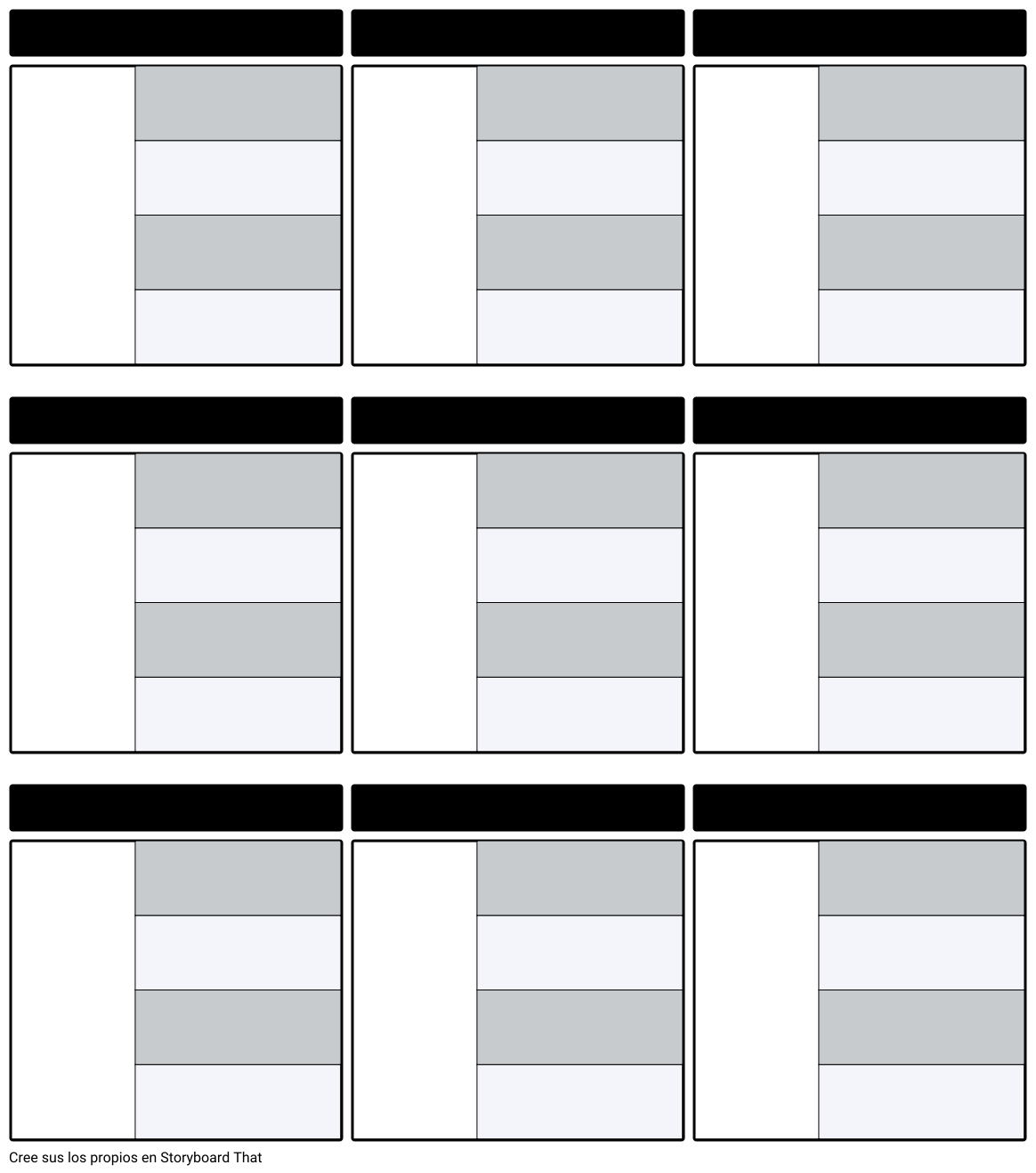 Plantilla del Mapa de Caracteres en Blanco
