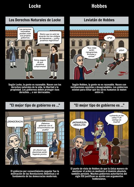 Revolución Científica de la Aclaración - Locke Contra Hobbes