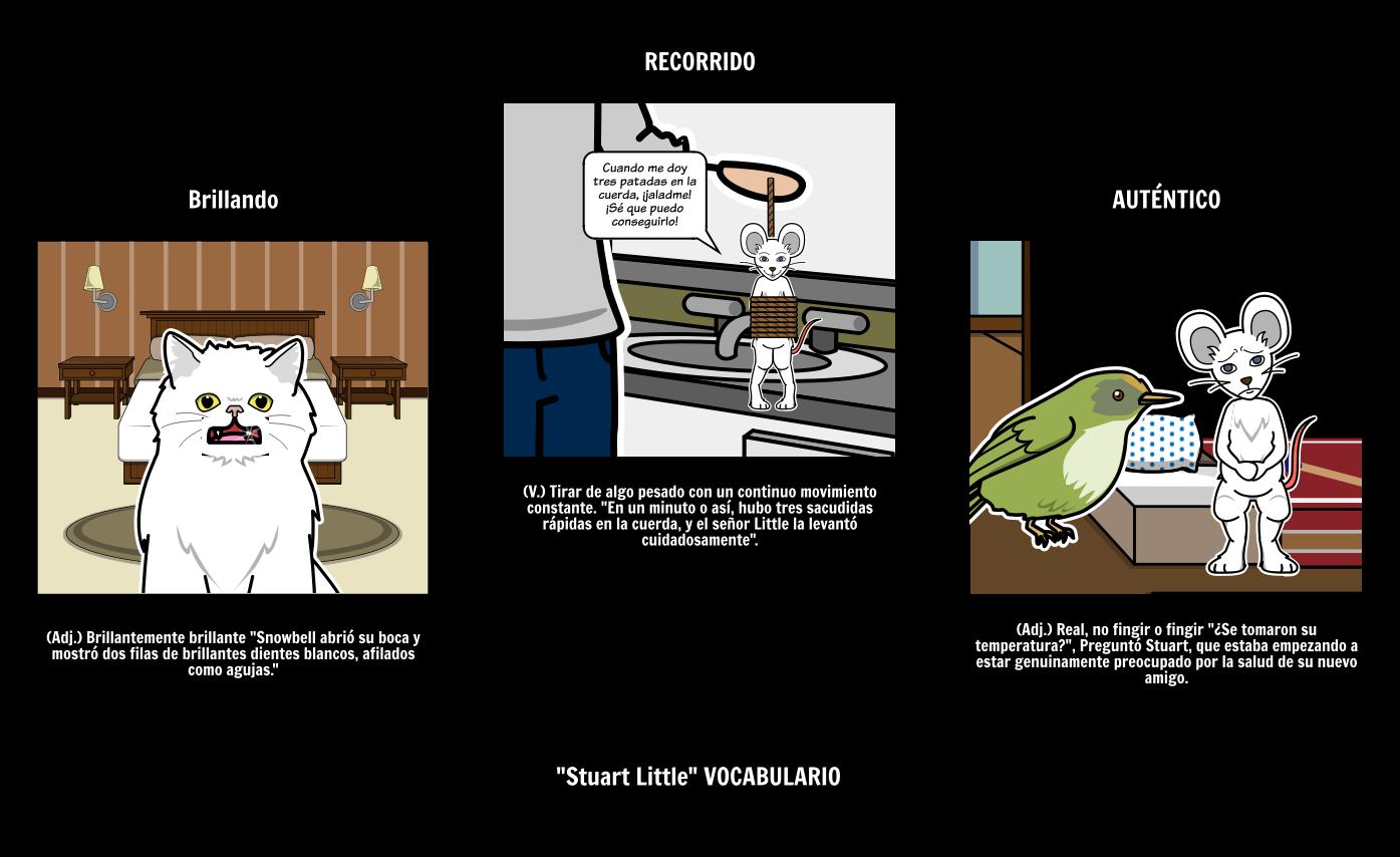 Stuart Little Plan de Lección de Vocabulario Como Organizador Gráfico