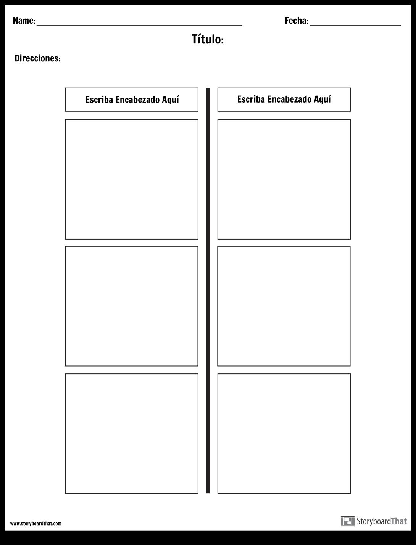T-Chart - 2 Columnas