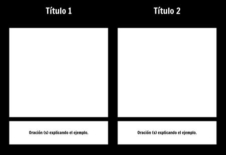T-Chart con descripción 1 fila