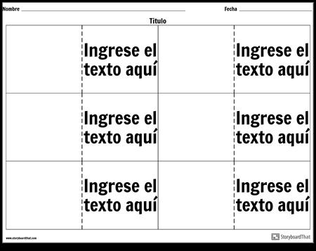 Tarjetas de Vocabulario - 6 Arriba