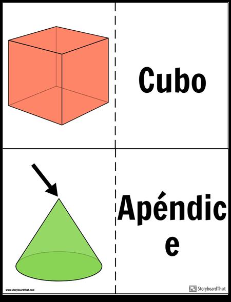 Tarjetas Flash de Sólidos Geométricos