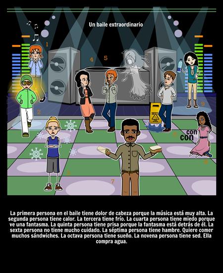 Tener con posesivos Los adjetivos - Expresiones: Escena Creativa