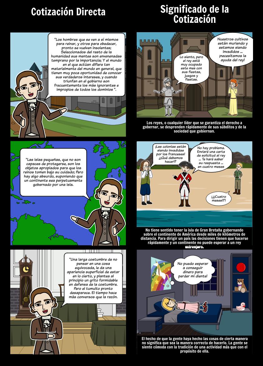 Thomas Paine Common Sense - Análisis de Cotizaciones