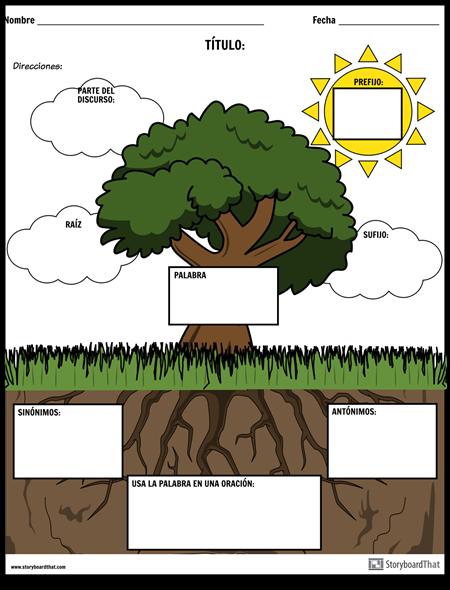 Vocabulario - Fun Nature Theme (Color)
